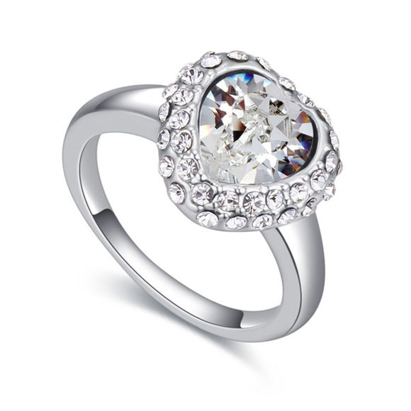Imagen de Austrian Crystal Ring - Heart Stone