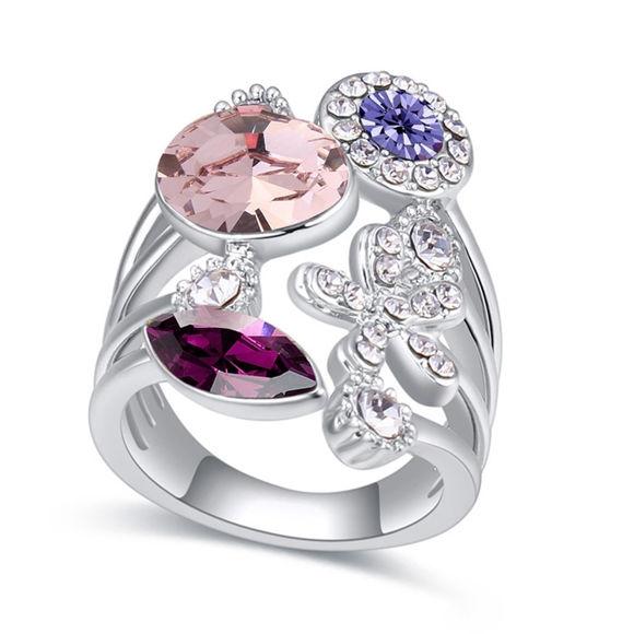 Bild von Austrian Crystal Ring - Flower Years