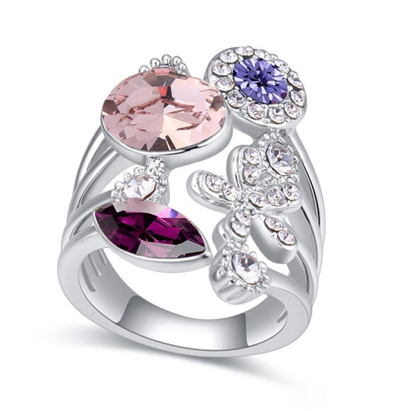 Immagine di Austrian Crystal Ring - Flower Years
