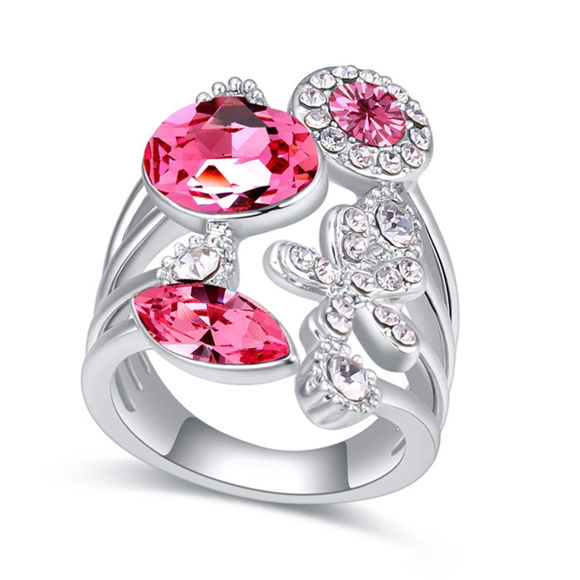 Imagen de Austrian Crystal Ring - Flower Years