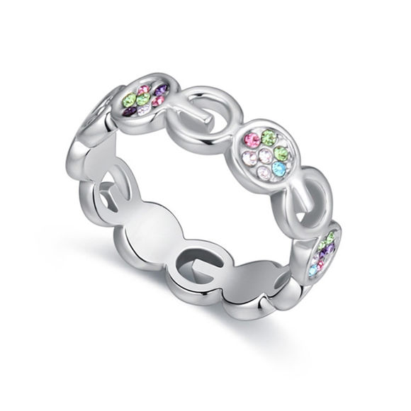 Picture of Austrian Crystal Ring - Love In Prague
