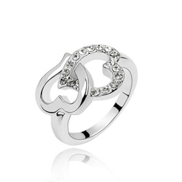 Immagine di Crystal Ring - Heart In Heart