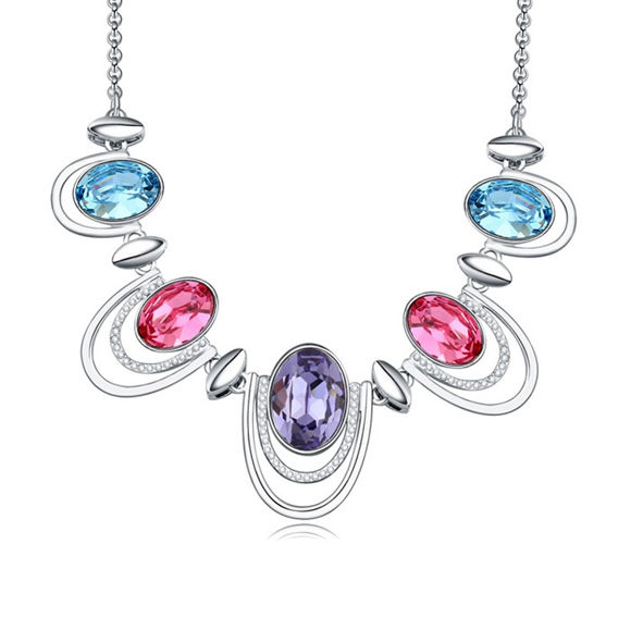 Image de Austrian Crystal Necklace - Golden Years