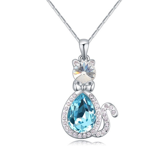 Imagen de Austrian Crystal Necklace - The King Of Cat