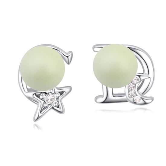 Imagen de Austrian Crystal Earrings - Star And Moon