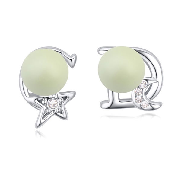 Picture of Austrian Crystal Earrings - Star And Moon