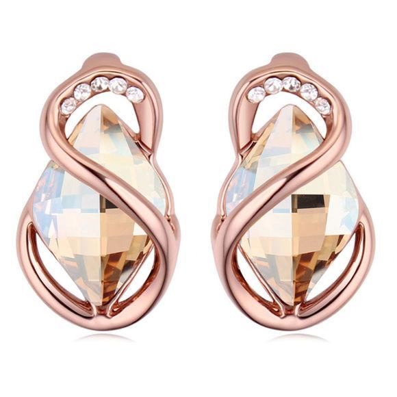 Imagen de Austrian Crystal Earrings - Stone Surrounded