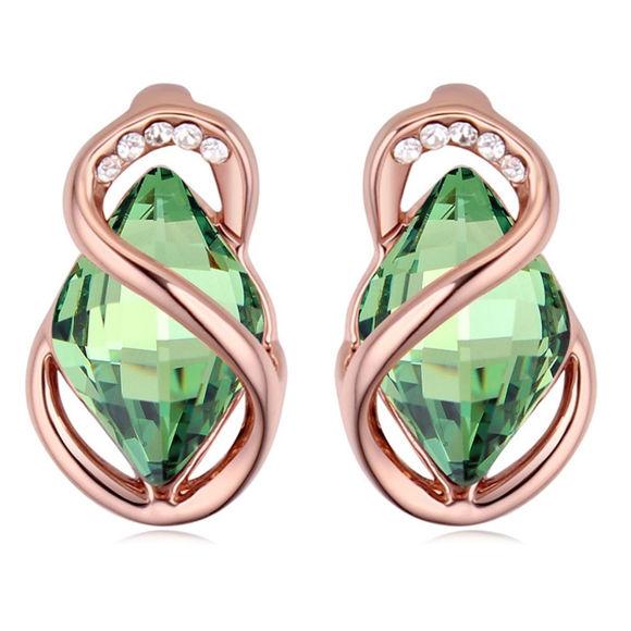 Bild von Austrian Crystal Earrings - Stone Surrounded
