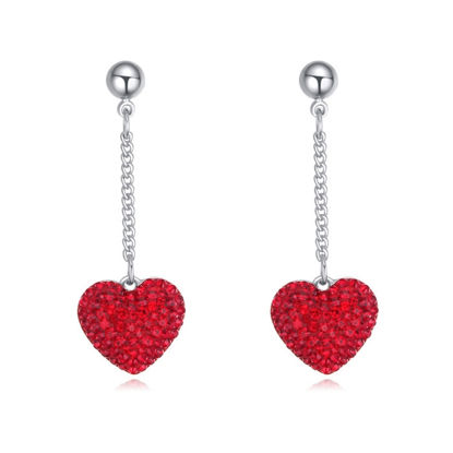 Immagine di Austrian Crystal Earrings - Heart