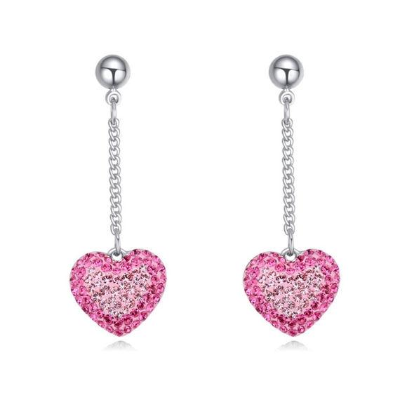 Immagine di Austrian Crystal Earrings - Heart