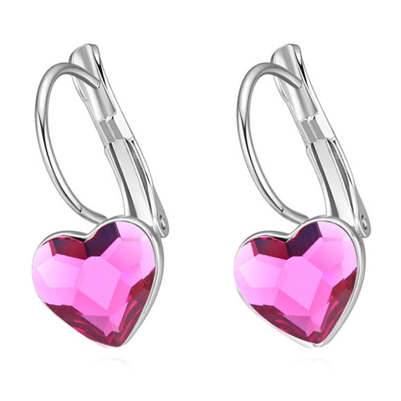 Picture of Austrian Crystal Earrings - Obsession Heart