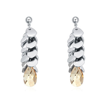 Immagine di Austrian Crystal Earrings - Bunch Of Love With Stone