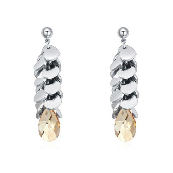 Imagen de Austrian Crystal Earrings - Bunch Of Love With Stone