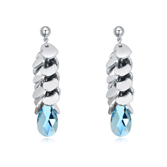 Bild von Austrian Crystal Earrings - Bunch Of Love With Stone