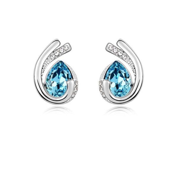 Image de Austrian Crystal Earrings - Love Forever