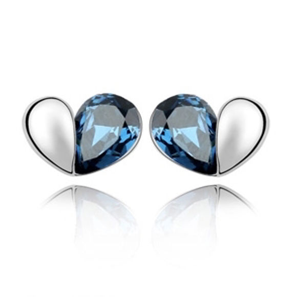 Bild von Austrian Crystal Earrings - Love Passphrase