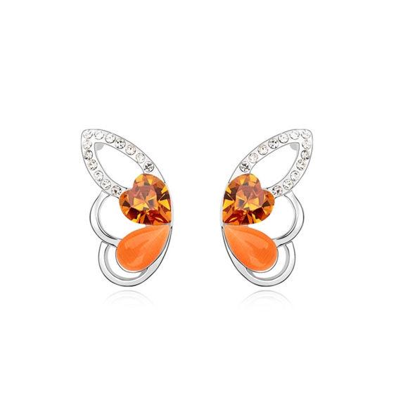 Imagen de Austrian Crystal Earrings - Butterfly