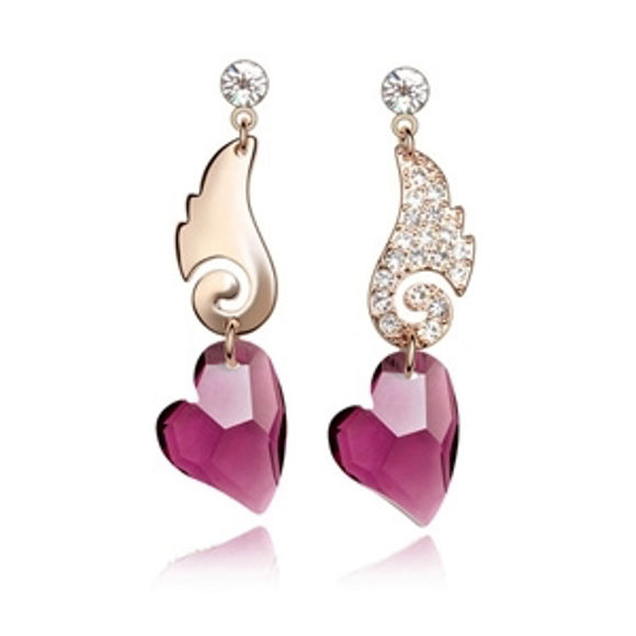 Imagen de Austrian Crystal Earrings - Wing