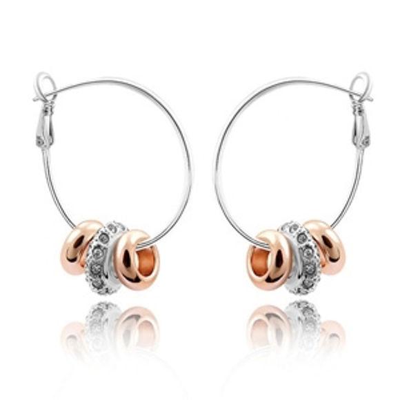 Bild von Austrian Crystal Earrings - Star And Moon