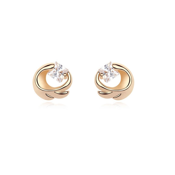 Image de Zircon Gold Plated Earrings - Oath