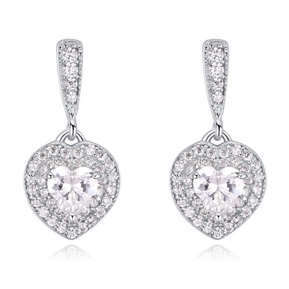 Image de S925 Sterling Silver Earrings - Love Sugar