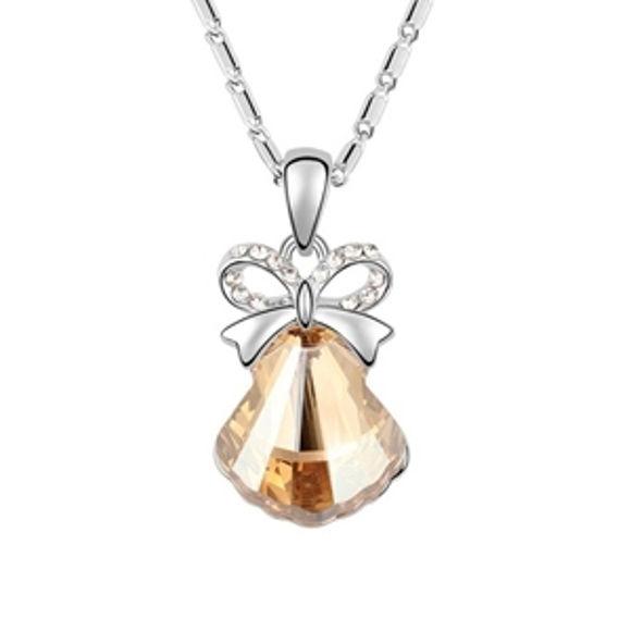 Imagen de Austrian Crystal Necklace - Shell Stone
