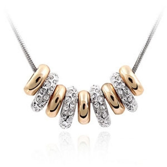 Picture of Crystal Necklace - Strung Happiness