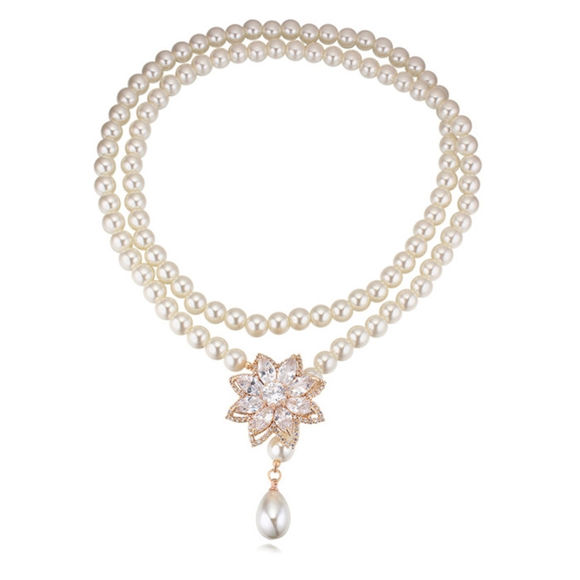Imagen de Future Flower Pearl Necklace