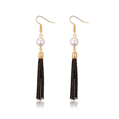 Immagine di Tassel Highlight Pearl Earrings