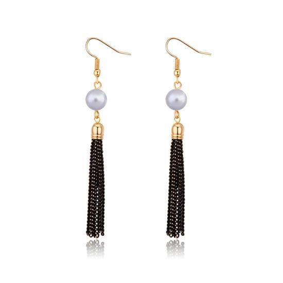 Imagen de Tassel Highlight Pearl Earrings