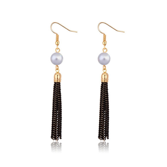 Imagen de Tassel Highlight Pearl Earrings