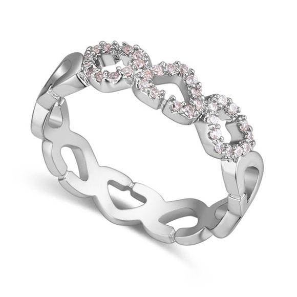 Imagen de Heart to Heart Micro-inlaid Zircon Ring