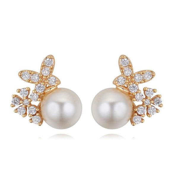 Imagen de Cosmic Stars S925 Silver Needle Pearl Earrings