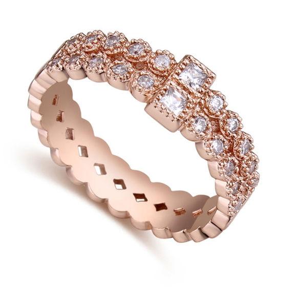 Imagen de Sweet Autumn Micro-inlaid Zircon Ring