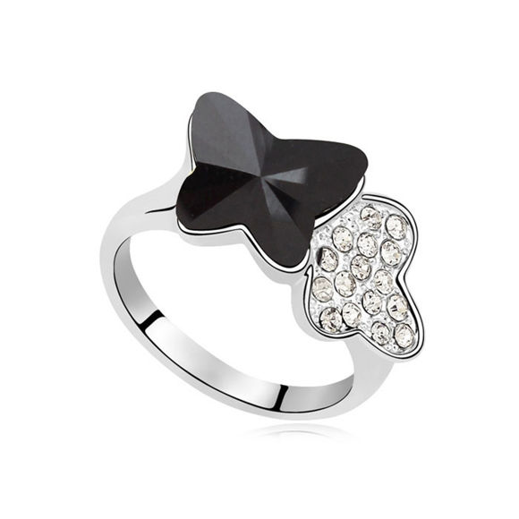 Image de Butterfly Couple  Crystal Mosaic Ring