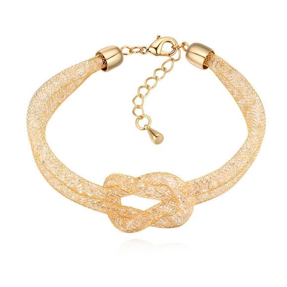 Bild von Cool Summer Net Yarn Braided Bracelet