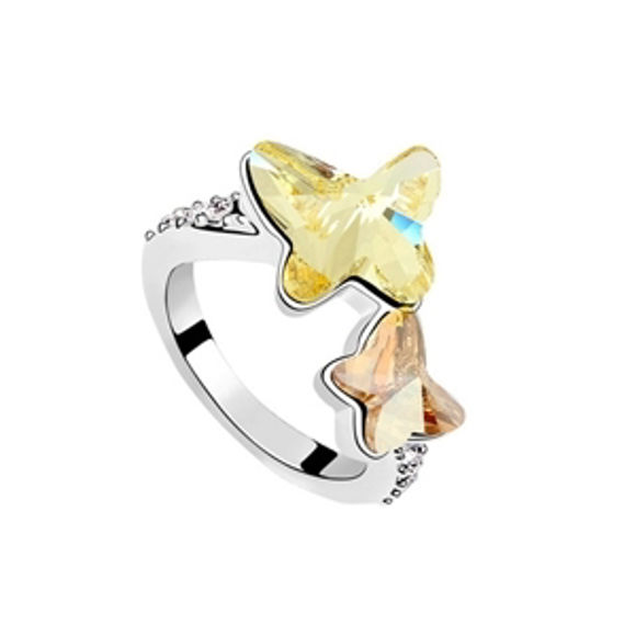 Imagen de Butterfly Lovers  Crystal Mosaic Ring