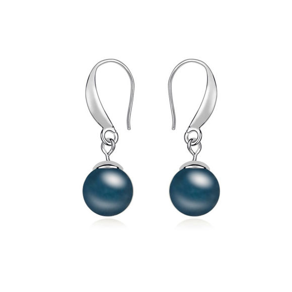 Picture of Perfect Date Swarovski Elements Pearl Earringsl Earrings