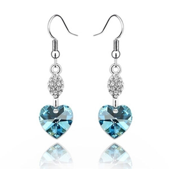 Bild von Heart Swarovski Elements Crystal Earrings