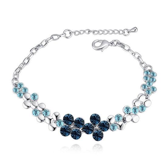 Imagen de Flowers Blooming Crystal Inlaid Bracelet