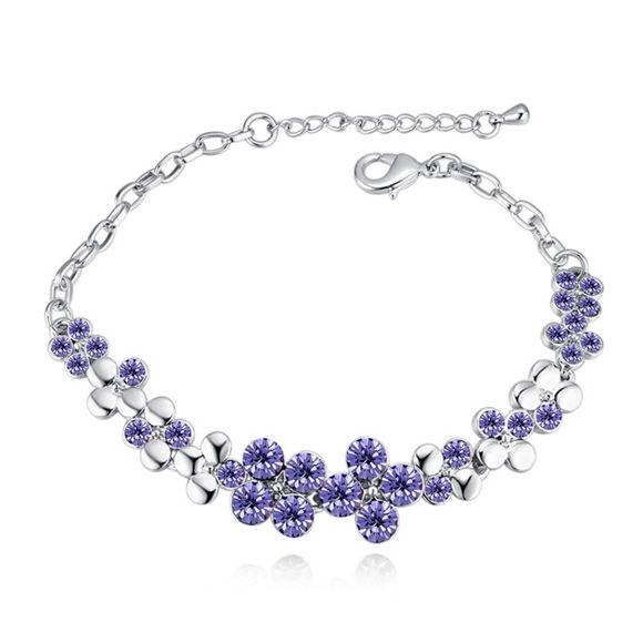 Bild von Flowers Blooming Crystal Inlaid Bracelet