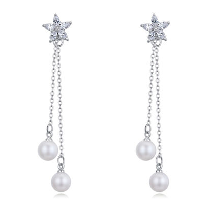 Immagine di Flower Fairy S925 Silver Zircon Anti allergy Earrings