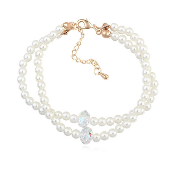 Image de Happy Lover Crystal Pearl Bracelet
