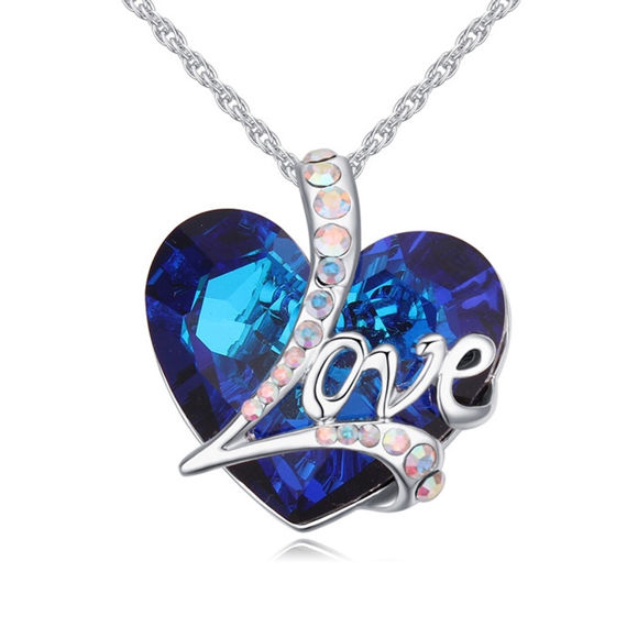 Picture of Deep Love Crystal Necklace With Swarovski Elements