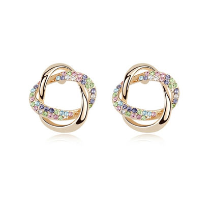 Immagine di Concentric Knot Crystal Stud Earringsrings