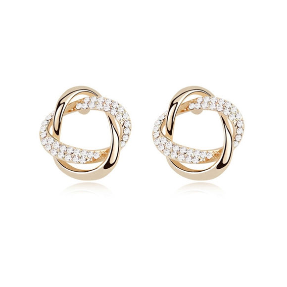 Picture of Concentric Knot Crystal Stud Earringsrings