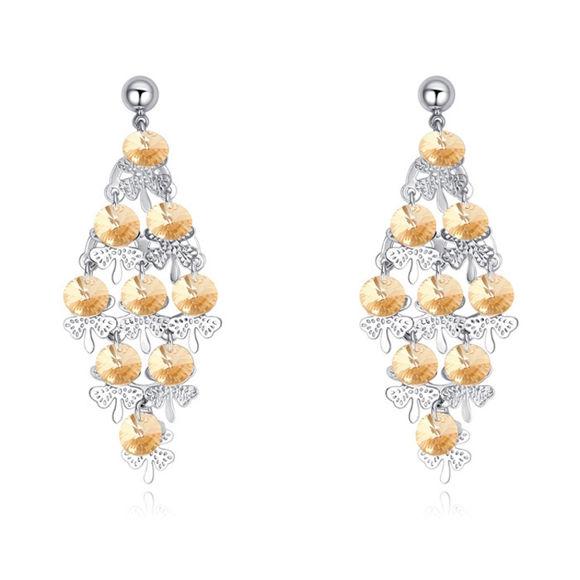 Immagine di Graceful Butterfly Swarovski Elemental Crystal Earrings