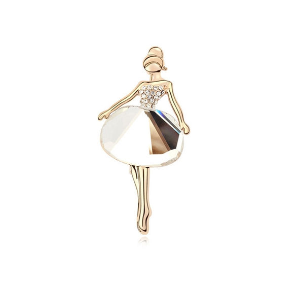 Immagine di Plated Gold Crystal Brooch