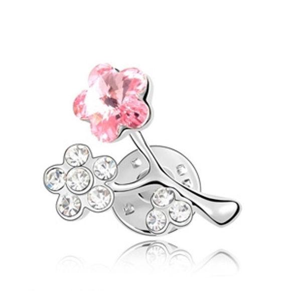 Image de Plum Blossom Swarovski Elements Crystal Brooch