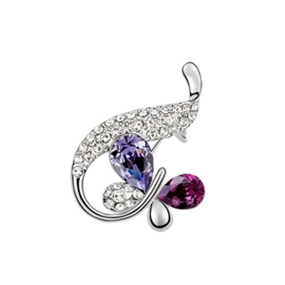 Imagen de Butterfly Swarovski Elements Crystal Brooch